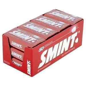 Smint XXL Strawberry Sugar Free Mints - 12 x 35g - 50 Mints Per Tin- BBE 11/22