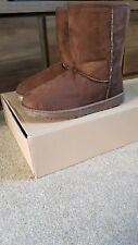 LADIES WOMEN'S WINTER BOOTS ANKLE BOOTS SIZE 5 WARM AND SNUG BROWN