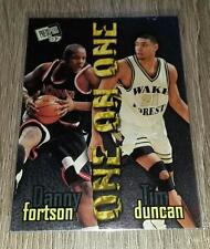 1997 Press Pass One on One Danny Fortson Tim Duncan