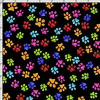 Cool Cats~Paws~Cotton Fabric by Loralie Designs