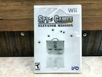 Spy Games: Elevator Mission (Nintendo Wii, 2007) BRAND NEW FACTORY SEALED
