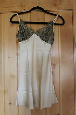 CHRISTINE VANCOUVER lingerie yellow silk lace chemise slip nightgown XS 0-2