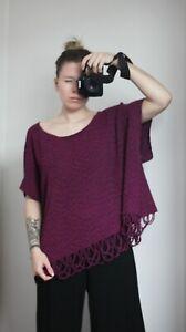Zuza Bart Pink Knit Cotton Lagenlook Cardigan One Size