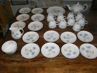 Wedgewood Ice Rose Bone China tea set