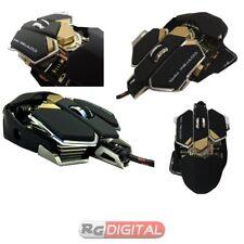Mouse Usb Cortek MM1 Gaming Laser Metallico 10 Tasti 8200dpi Illuminazione RGB