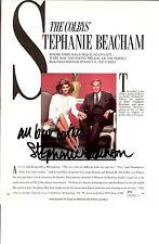 STEPHANIE BEACHAM SIGNED  MAGAZINE PAGE 8X10 JSA AUTHENTICATED  COA #50156