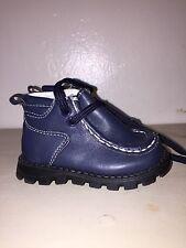 TENDERTOES INFANT/TODDLER NAVY BLUE LACE ANKLE BOOT SIZE 2