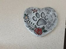 Memorial Plaque For Pet Cat Dog Slate Stone Heart