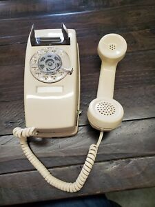 Vintage mini Wall mount Rotary Dial Phone Ivory1654
