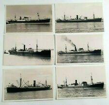 More details for clan line ships photo postcards x 6 - vintage shipping - merchant navy - ship