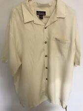 CLUB COHIBA Waywood Islands 100% Silk Camp Shirt XL Short Sleeve Shirt