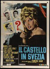 CHATEAU EN SUEDE Italian 2F movie poster 39x55 1963 MONICA VITTI FRANCOISE HARDY
