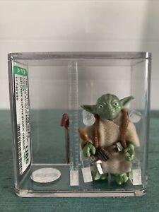Vintage 1980 Kenner Star Wars Yoda, Brown Snake/Dark Green, HK, AFA U85 NM+ COA!