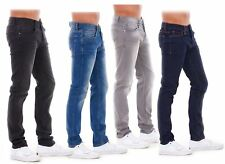 New Mens Boys Slim Fit Stretch Quality Jeans Regular Smart Branded Trouser 30-42