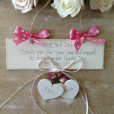 Personalised Wedding  Mum Dad Bridesmaid Flower Girl Thank You  Keepsake Gift