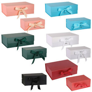 Self-Assembly Gift Boxes Magnetic Ribbon Gift Folding Self-Adhesive Hamper Box