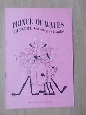 PRINCE OF WALES THEATRE PROGRAMME 1951 BOB HOPE - WITH TICKETS
