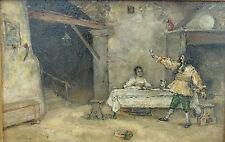 Ecole française ou hollandaise du XIXe s. - Huile sur panneau, signée