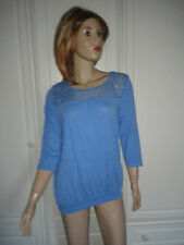 GEORGE BLUE TOP SIZE 12 LACE FRONT