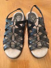 """Life Stride Soft System """"Behave"""" Black Support Slingback Sandals Size 7M"""