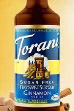 Torani Sugar Free SF Brown Sugar Cinnamon Flavoring  Syrup- 750 ml glass bottle