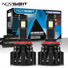 NOVSIGHT 100W 20000LM H11 LED Headlight Conversion Bulbs 6000K White Beam Lamps