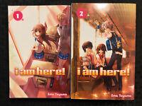 I Am Here! 1, 2 Manga Del Ray Graphic Novel OOP Romance