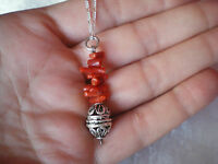 Coral pendant & 19.5 inch chain in approx 3 grams of 925 Sterling Silver
