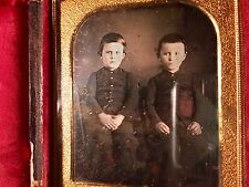 Daguerreotype Twin Brothers (Children Of The Corn Spooky!) Sealed & Provenance C