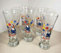 Vintage 1987 Set of 5 Bud Light Spuds Mackenzie Drinking Glasses Barware