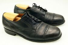 Souliers classiques taille 42 / 42 Vintage black shoes extra wide uk 8.5 H 9eee