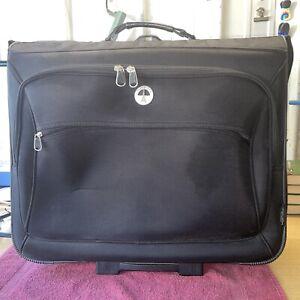 "TravelPro Crew Black 22"" Wheeled Rolling Carry On Garment Case, Bonus Doc Holder"