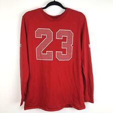 Vtg! Air Jordan 23 Red Mens Large Long Sleeve 100% Cotton Crewneck Shirt T1