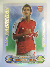 Topps Match Attax Trading Cards 2008-09: Aresnal (Choose Player from List)