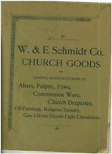Vintage 1900s  Catalog of Church Goods Pulpits, Altars, Communion Wear + more