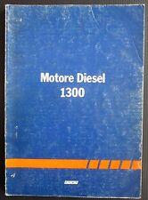 1981 FIAT MOTORE DIESEL 1300 manuale originale riparazione montaggio smontaggio