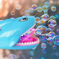 Blue Shark Automatic Bubble Machine Party Toy Bath Toys For Kids