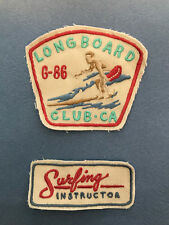 Surf Instructor Surfing Longboard Hawaii sun beach embroidered patch