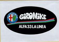 ADESIVO VINTAGE STICKER alfa romeo giromike alfa 33 la linea mike bongiorno