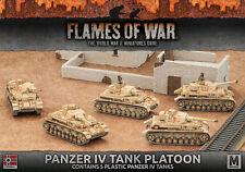 Flames of War NUOVO CON SCATOLA PANZER IV TANK PLATOON (Plastica) GBX97