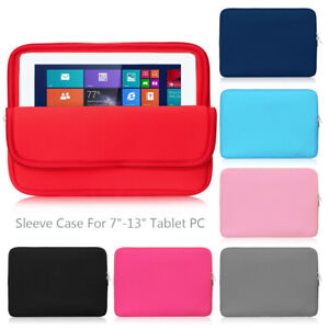 Sleeve Case Protective Pouch For Apple iPad Samsung Galaxy Tab Huawei MediaPad