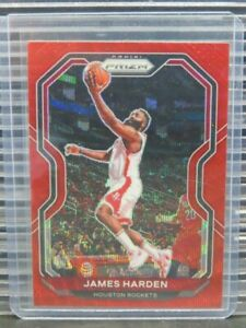 2020-21 Panini Prizm James Harden Red Wave #112 Y767