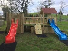 COMMERCIAL CASTLE Double 6ftsq Huge Spec OUTDOOR QUALITY WOODEN CLIMBING FRAME