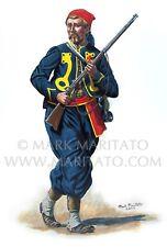 Mark Maritato Civil War 155th Pennsylvania Infantry Zouave Signed Art Print