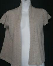 Eileen Fisher Hemp Cardigan Sweater XS Extra Small Lightweight Taupe SS