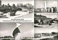 Ansichtskarte Magdeburg Promenade der Völkerfreundschaft 2 1980