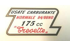 MORINI 175 TRESETTE DECALCOMANIA TAPPO SERBATOIO- DECALS MORINI 175