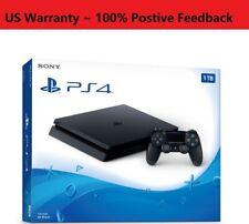 New Sony PlayStation 4 PS4 Slim 1TB Console with DUALSHOCK4 Controller Jet Black