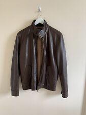 Ralph Lauren Leather Jacket Small Barracuda