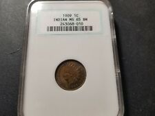 1901 INDIAN HEAD CENT 1C NGC MS65 BN